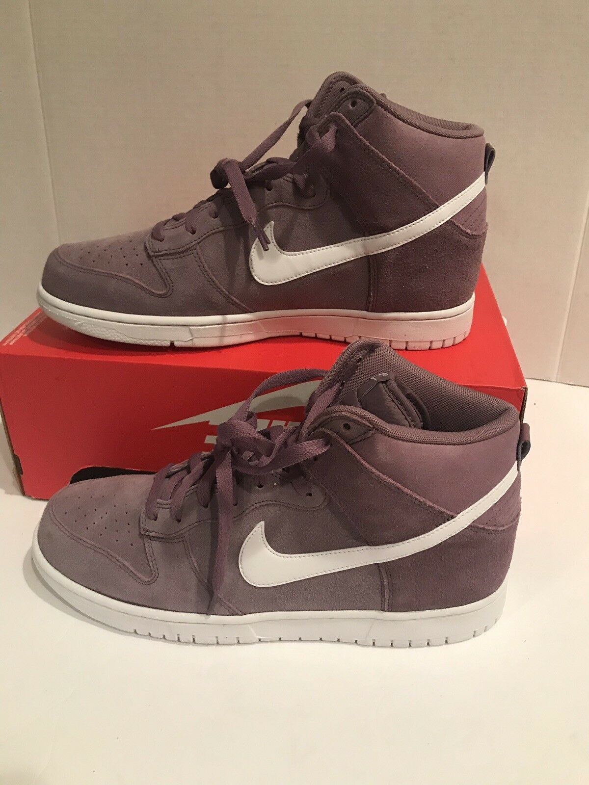 Nike Dunk Hi , para Hombres 904233-500 púrpuraa Polvo blancoo ante Número 10.5us