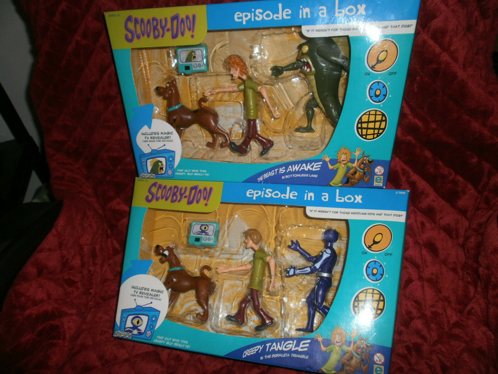 SCOOBY DOO EPISODE IN A BOX CREEPY TANGLE + THE BEAST IS AWAKE  SET OF 2