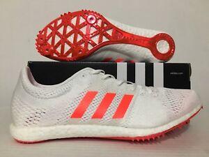 Adidas-Adizero-Avanti-Boost-Track-Spikes-White-Solar-Red-BA9878-With-spikes