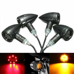 4X-Moto-Universel-LED-Lampe-Ambre-Clignotant-Arriere-Feux-de-Freinage-Indicateur