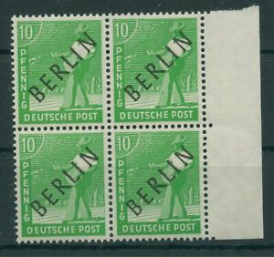 Germany-Berlin-vintage-yearset-1948-Mi-4-Block-of-Four-Mint-MNH-More-Shop