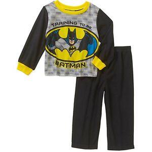 Batman Pajamas 24 Months 2T 3T 4T Toddler Boy 2 Piece New Flannel Set Sleepwear