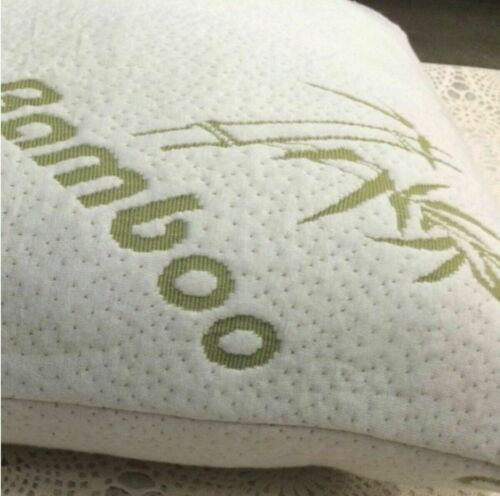 Cool Bamboo Pillow 2 Pack Adjustable Shredded Memory Foam Pillow King or Queen