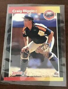 1989-Donruss-Craig-Biggio-Houston-Astros-561-Baseball-Card-43-Card-Lot-NM-MT