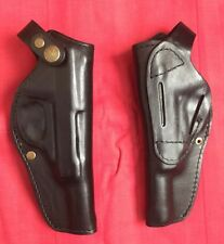 Black Leather RH Holster for Walther P38 P1 P4 AP HP Luger Mauser 9mm ERMA,New