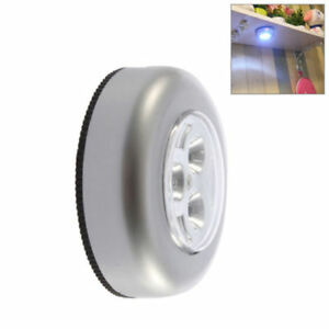 New Mini Wall Light Car Kitchen Cabinet Light 3 Led Wireless Push Touch Lamp Outstanding Features Furniture Accessories