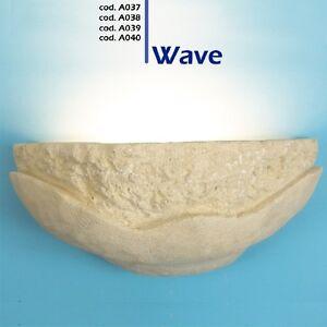 lampada da parete artigianale in pietra di matera