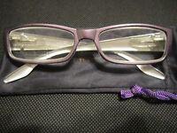 Jm York Reading Glasses +3.50 Purple W/crest Spring Hinged Joy Mangano
