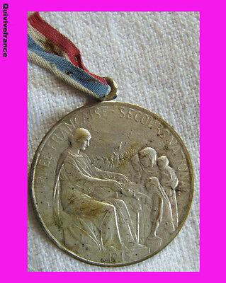 Bg3187 - Medaillette Journee Secours National 1915 Par Hippolyte Lefebvre
