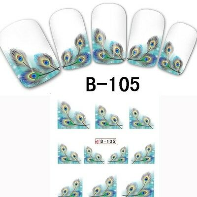 22 Style Nail Art Water Transfer Tips Foil Wraps DIY Paper Stickers Decals