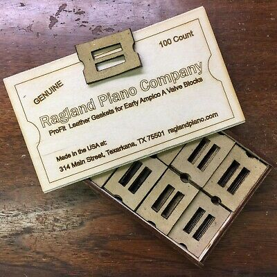 Set Of 90 Genuine Leather Gaskets for Amphion Player Piano Unit Valves