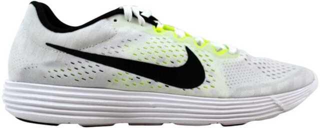 5b0490a78a0 Nike Womens Lunaracer 4 Running Shoes White Black Volt 844562 107 7 ...