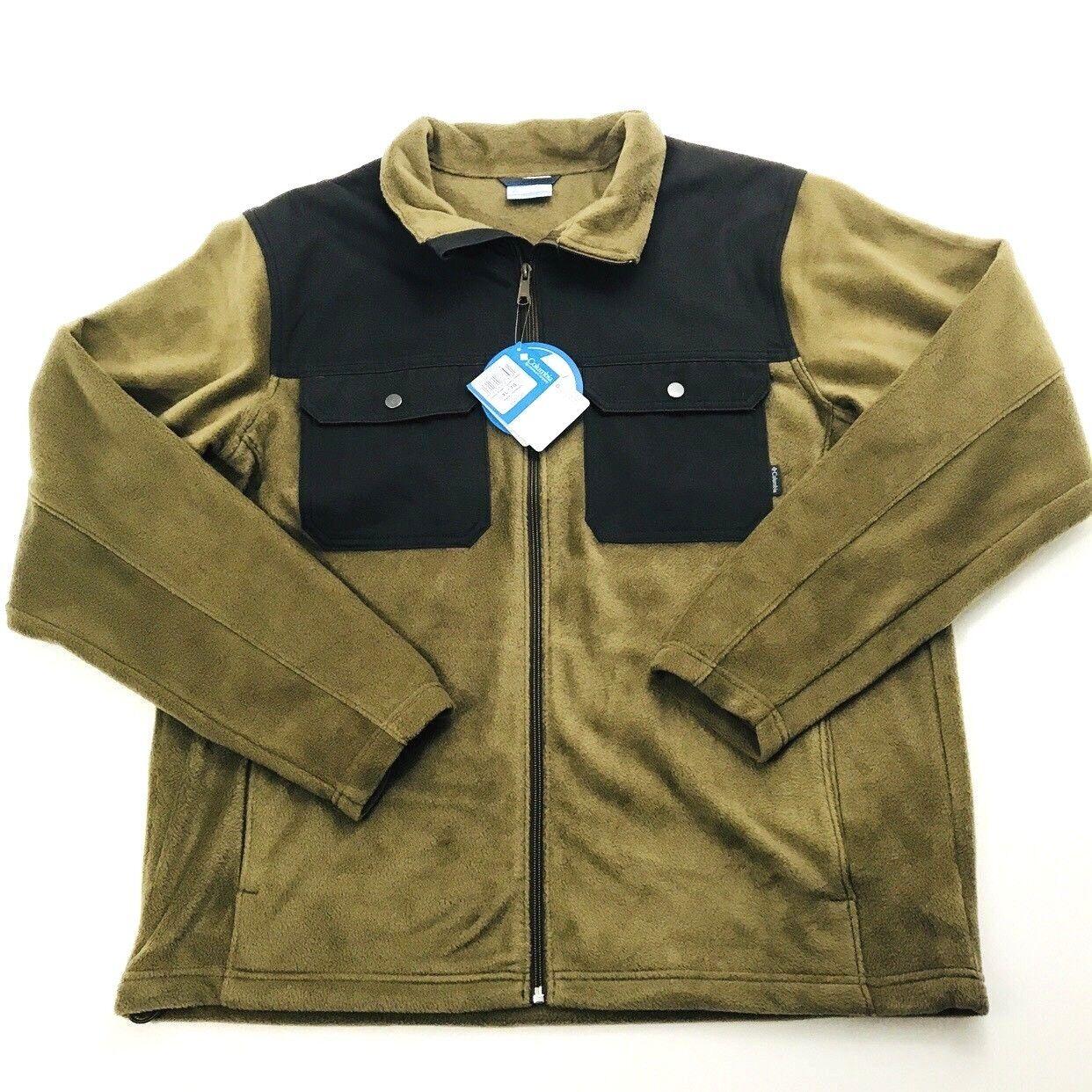 Columbia Mens XL Zip Up Fleece Water Resistant Overlay  Retail (799)