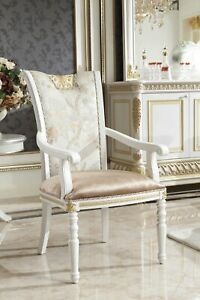 8x-Classic-Chair-Set-Set-Wood-Chairs-Seat-Pads-Baroque-Rococo-E62-New