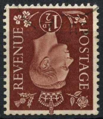 100% Kwaliteit Gb Kgvi 1937-47 Sg#464wi, 1.5d Red-brown Wmk Inverted Used #d83259 Een Plus Een Gratis
