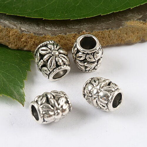 12pcs Tibetan silver crafted flower spacer beads h1567