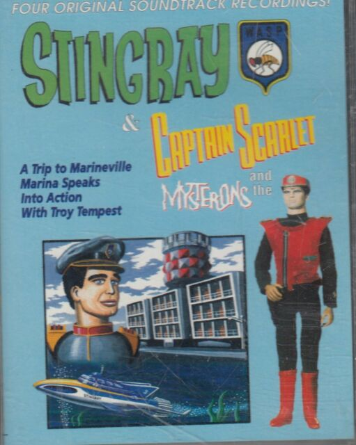 Stingray & Captain Scarlet 2 Cassette Audio Book 4 Adventures Gerry Anderson