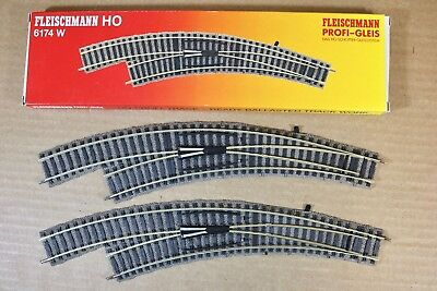 FLEISCHMANN 6435 PROFI GLEIS SET of 2 SWITCH CONTACT TRACK MINT BOXED nn