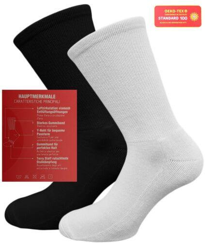 Sportsocken in weiß oder schwarz Polstersohle Funktionssocken 4er Pack 35 bis 46