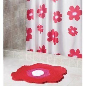 Image Is Loading Interdesign 35320 Red Poppy Shower Curtain Cloth