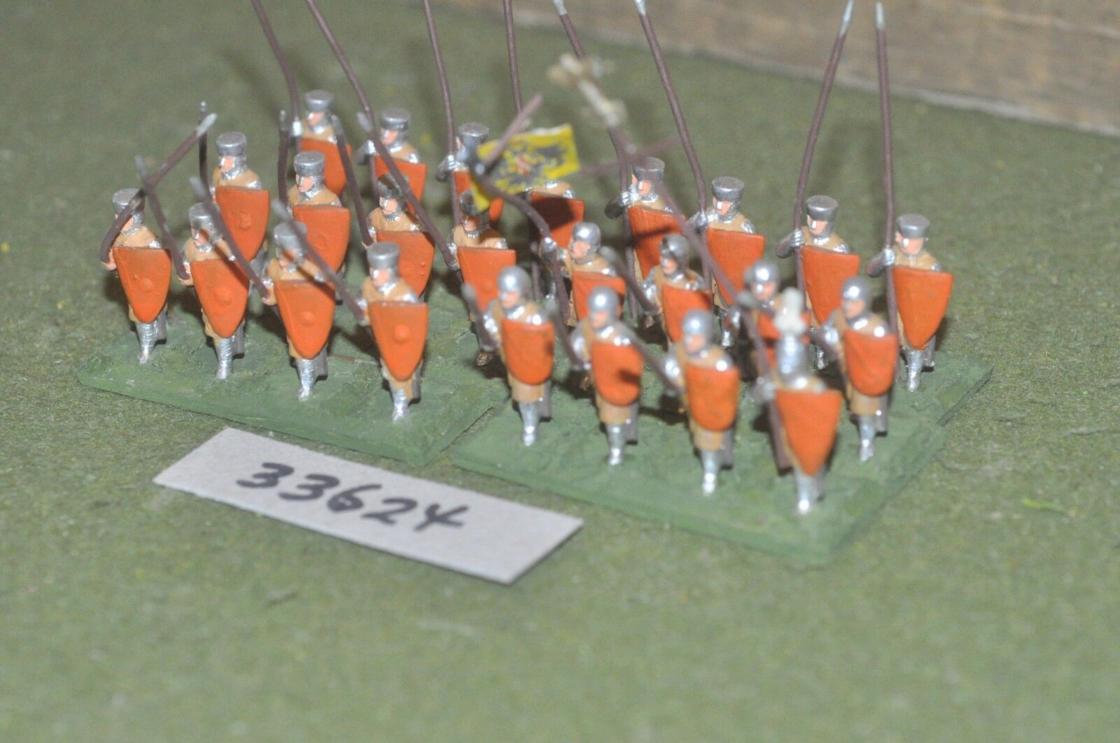 25mm medieval   french - spearmen 24 figures - inf (33624)