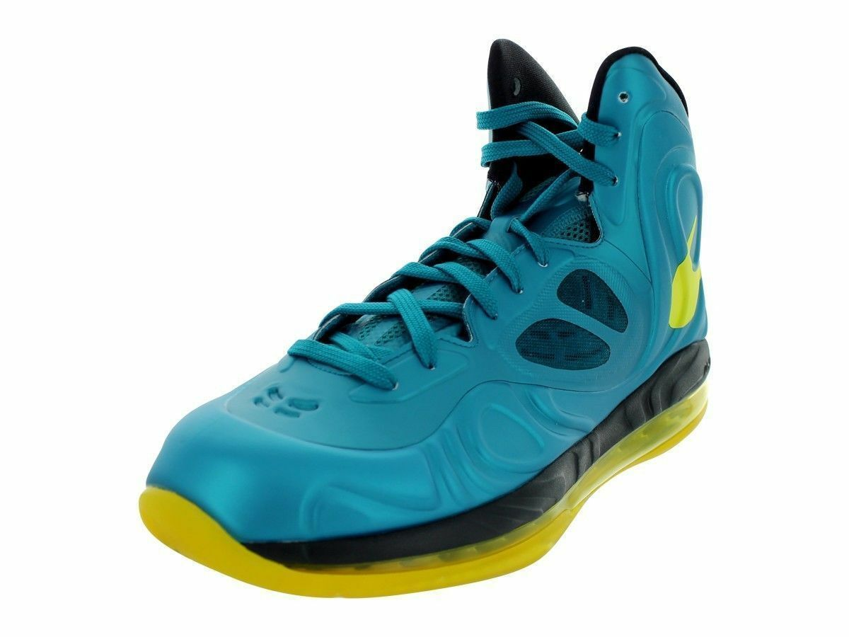 NEW Nike Mens Air Max Hyperposite Basketball shoes Teal Yellow Retail  225
