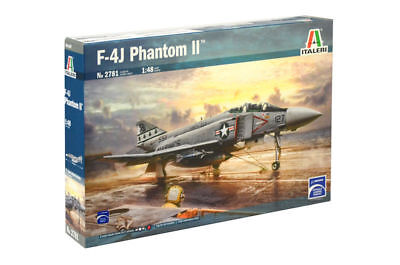 Italeri Mcdonnell F-4j Phantom Ii 1:48 Kit Model Kit Art 2781 Aircraft Plane