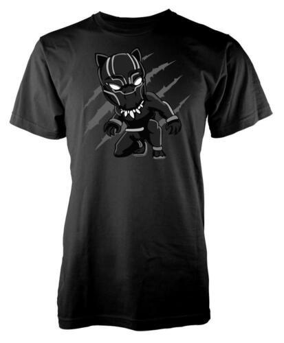 Black Panther Cat Scratch Superhero Kids T Shirt