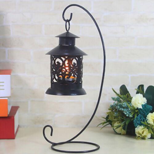 Garten Metall Tischplatte Wandbehang Kerze Laterne Teelicht Ständer Haken Halter