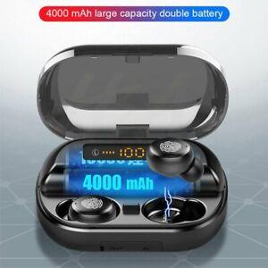 4000mAh-Bluetooth-5-0-TWS-LED-Wireless-Headphones-Stereo-IPX7-Earbuds-Earphones