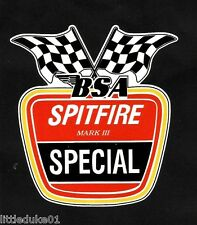 'BSA SPITFIRE' VINYL DECAL / STICKER NORTON TRIUMPH MOTORCYCLE WORKSHOP ARIEL