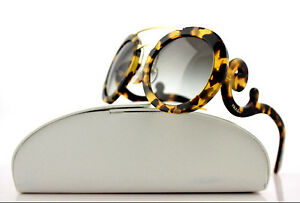 4c53fedc81cb RARE New Genuine PRADA Cinema Baroque Blonde Havana Sunglasses SPR ...
