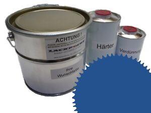 1,5 Liter Set 2K Floor Coating Ral 5007 Blue Shine Floor Color Workshop New