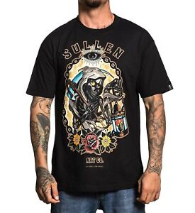 609af61b19c6c Image is loading Sullen-Clothing-Night-Watch-Grim-Reaper-Flowers-Tattoos-
