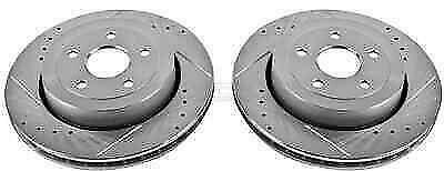 Power Stop AR8795XPR Rear Evolution Drilled /& Slotted Rotor Pair