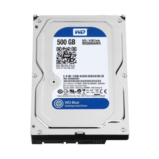 """Western Digital Caviar Blue 500 GB 3.5"""" Internal Hard Drive SATA -WD5000AAKX"""