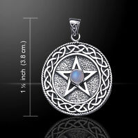 Pentagram Pentacle Pendant Gem Sterling Silver Pendant By Peter Stone Jewelry