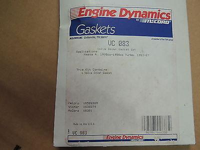 Detroit 19438 Valve Cover Gasket For 1983-93 Mazda 2.0L-2.0L Turbo-2.2L 4 cyl