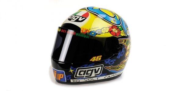 Tête casquée AGV VALENTINO ROSSI GP 250 World Champion 1999 1 2 Replica Model