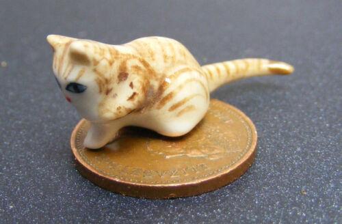 Escala 1:12 Casa De Muñecas Gatito Mascota Gato Rayas Marrón Claro Accesorio Ornamento Zt