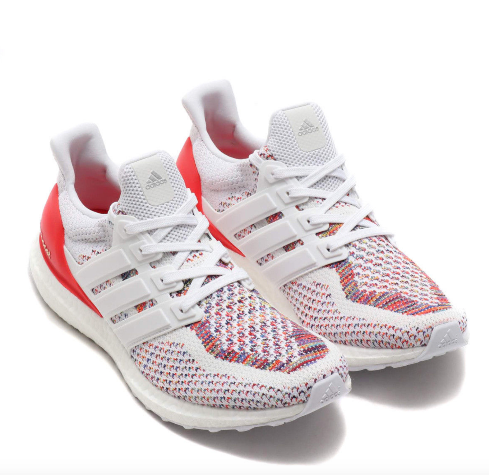 Details about Adidas Ultra Boost White Red MultiColor Size 15. BB3911 NMD Yeezy