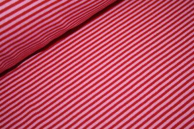 Swafing Bündchen Stoff Gestreift pink rot 0,50m