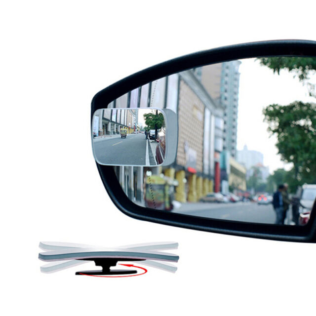 1x Universal Auto Car 360° Wide Angle Convex Rear Side View Blind Spot Mirror AT