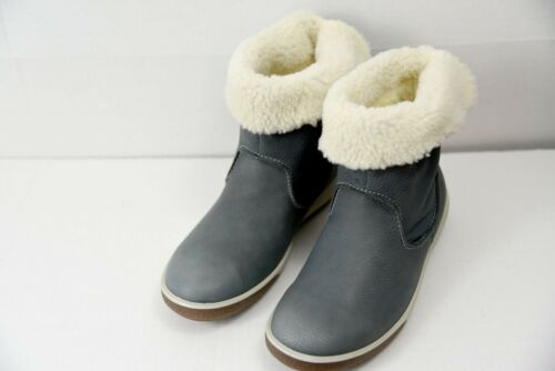ECCO Chase II Mid Winter Womens Boots size US 5-5.5 EUR 36 DarkShadow Gore-TEX