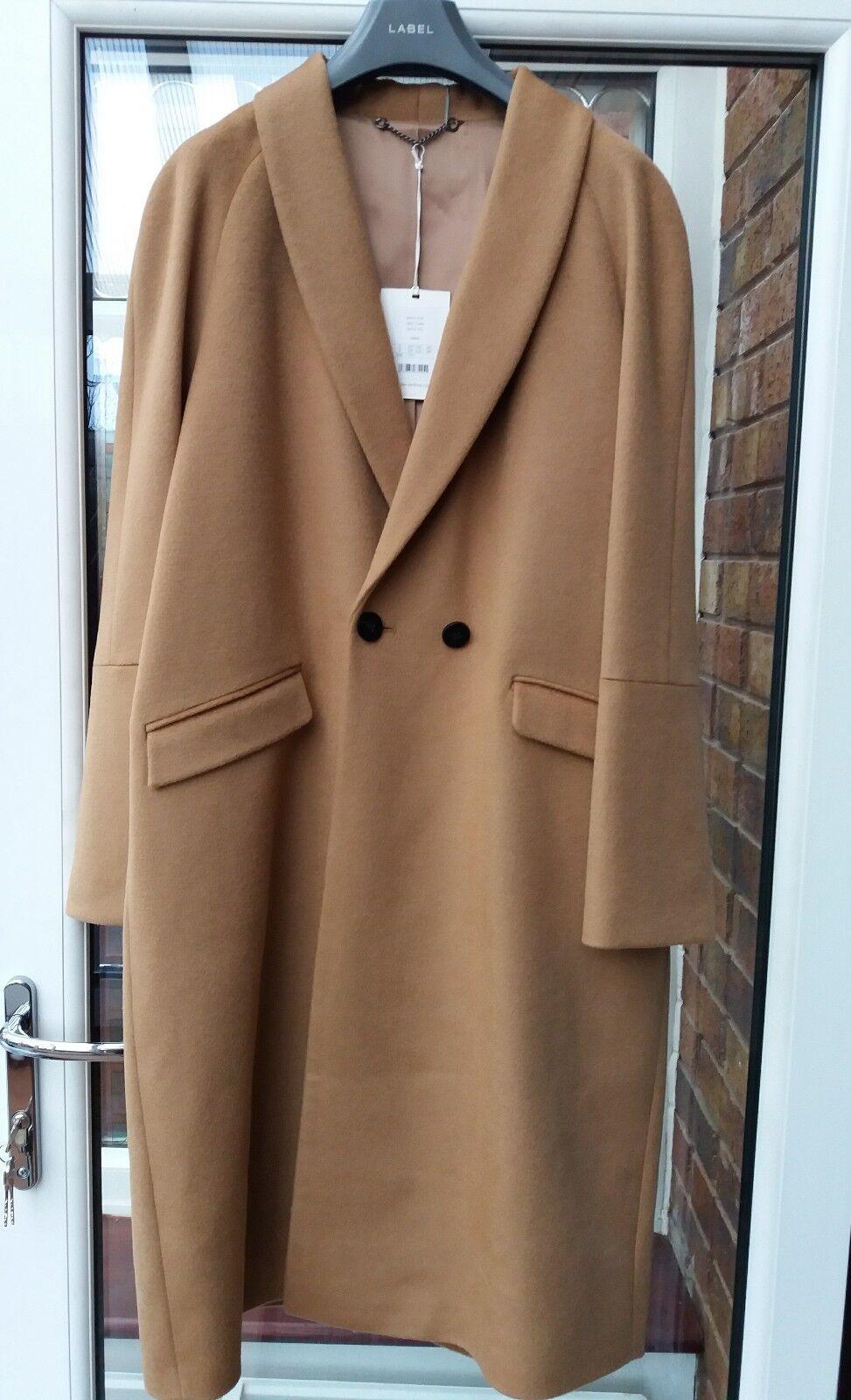 BNWT Jigsaw Grace Camel Lux Wool Coat L rrp