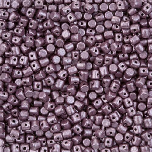 L03//6 Minos ® par puca ® metallic mat dark plum tchèque cylindre en verre perles 9g
