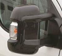 Milenco Black Mirror Protectors Guards Pair Motorhome Citreon Fiat Peugeot Long