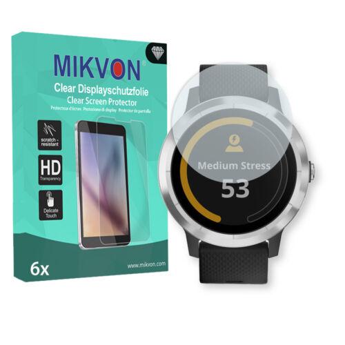 6x Mikvon Clear Displayschutzfolie für Garmin vivoactive 3 mit Zubehör