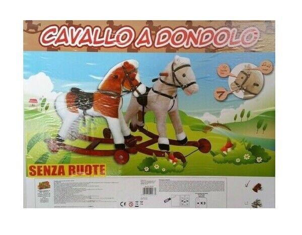 NEW TOYS CAVALLO A DONDOLO DELUXE CON SUONI E MOVIMENTO BOCCA
