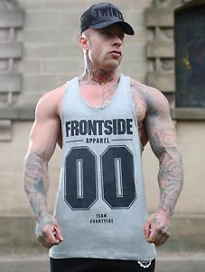 Mens Workout Vest Gym Tank Top Frontside Sportswear